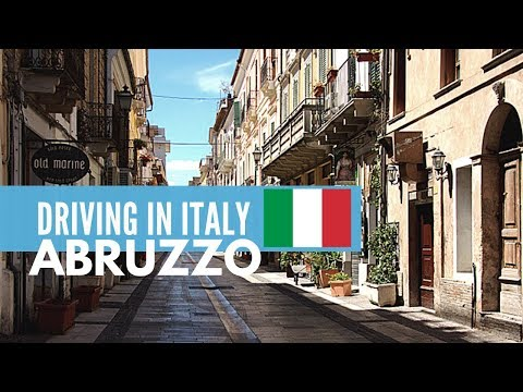 Driving in Abruzzo, Italy