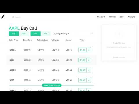 How to trade options on robinhood web