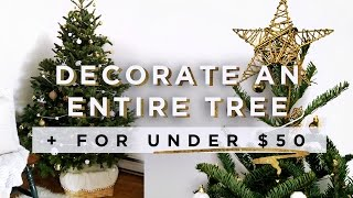 ENTIRE CHRISTMAS TREE DECORATED WITH THRIFT STORE ITEMS | THE SORRY GIRLS
