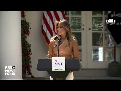 WATCH LIVE: First Lady Melania Trump announces new initiative on children's well-being