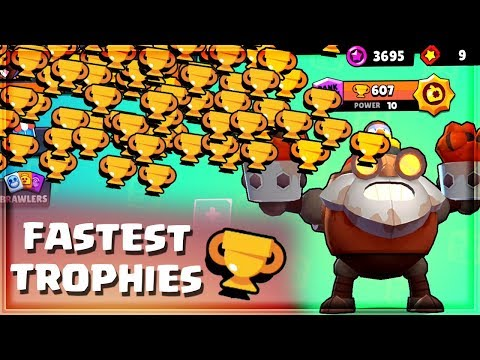 The FASTEST Way To Earn Trophies In BRAWL STARS 🏆