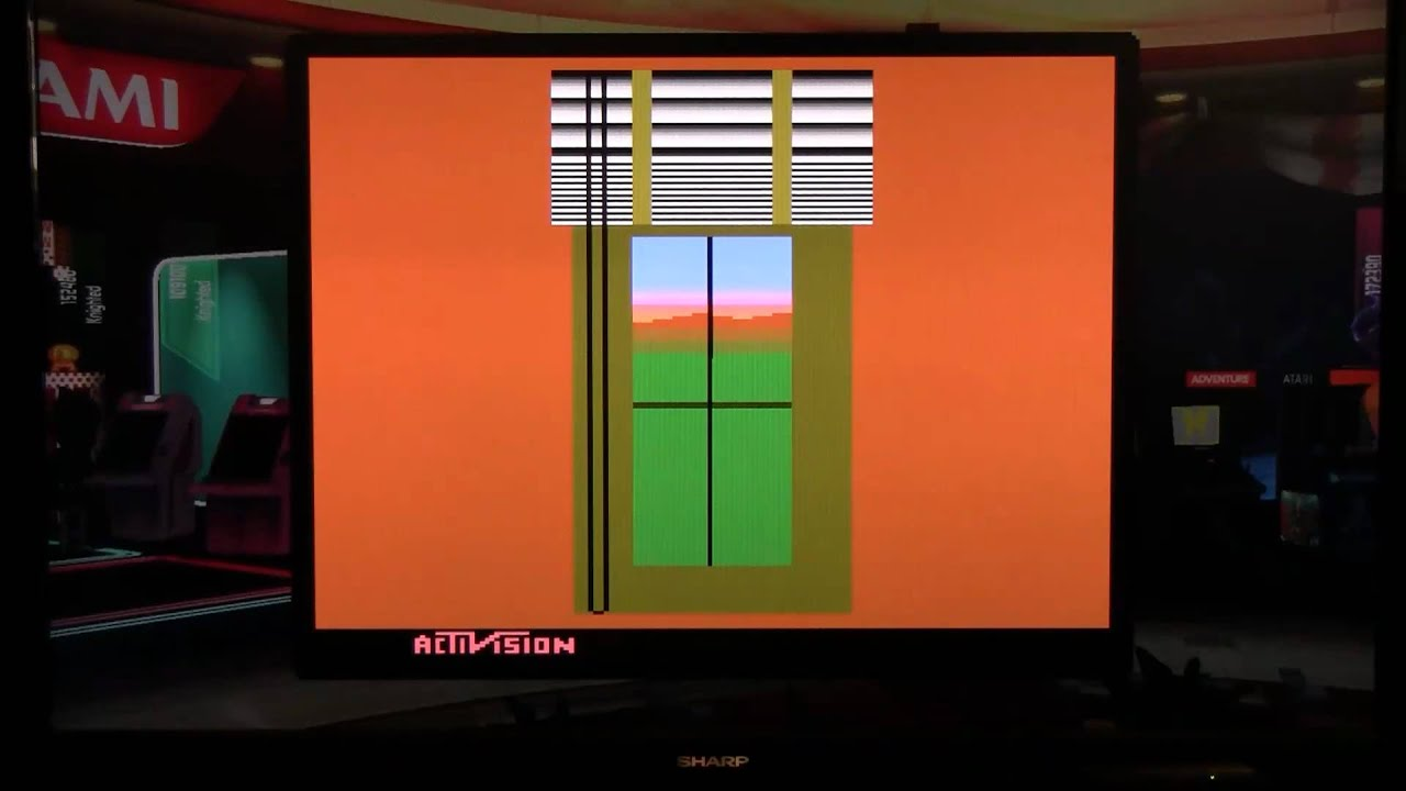 Venetian Blinds Atari 2600 By Activision In Game Room Youtube