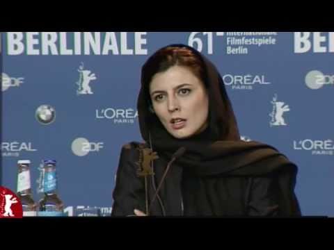 Leila Hatami speaking German  Conference Press   Berlin Film Festival 2011