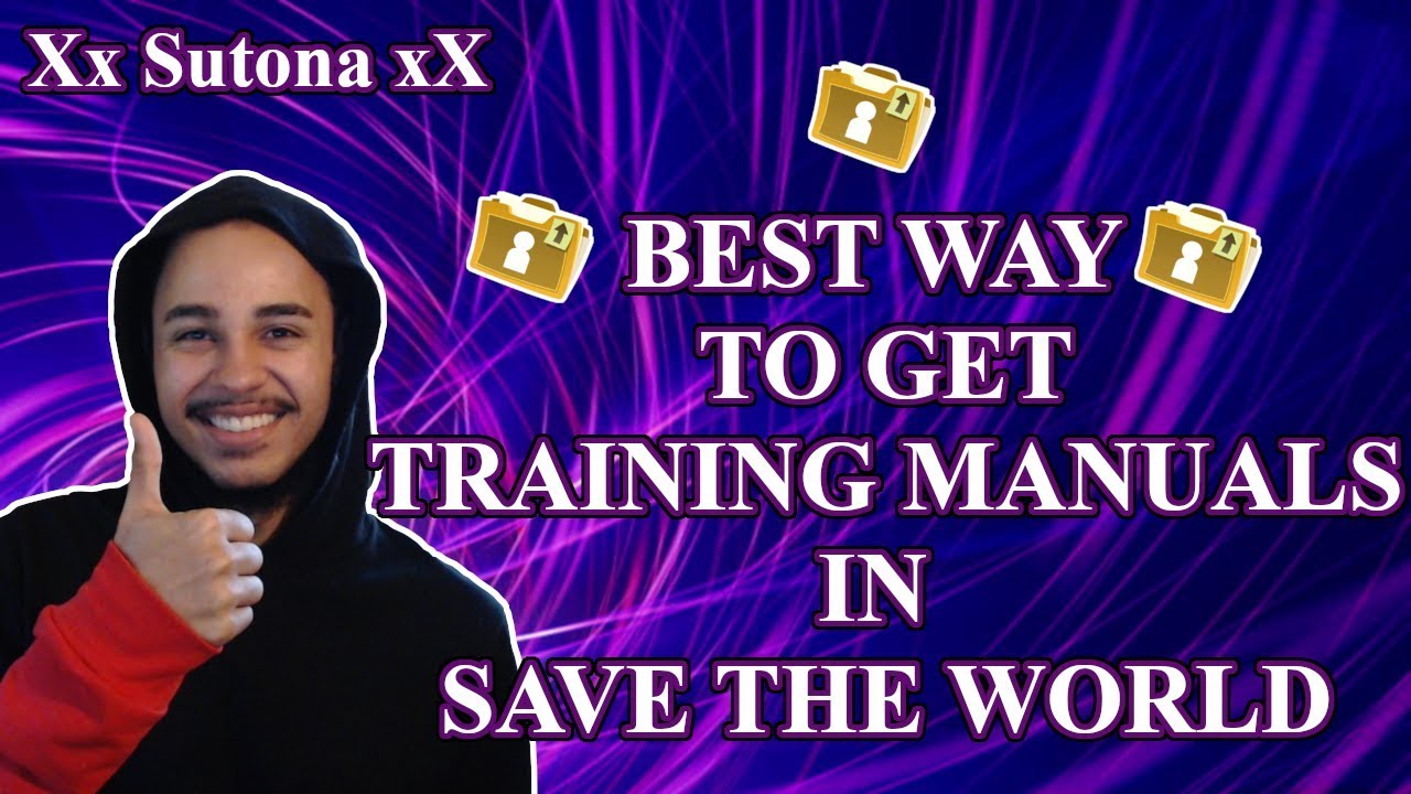 save the world how to get training manuals best way to get
