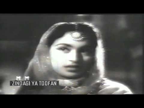 ZINDAGI YA TOOFAN (1958)- Zulphon ki sunherei chahon tale - Talat