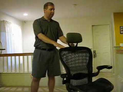 Herman Miller Aeron Headrest   YouTube