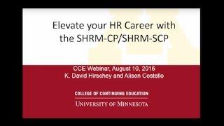 Webinar: Elevate Your HR Career