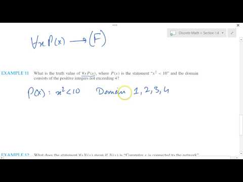 Discrete Mathematics 1.4 Part 2 Universal Quantifier