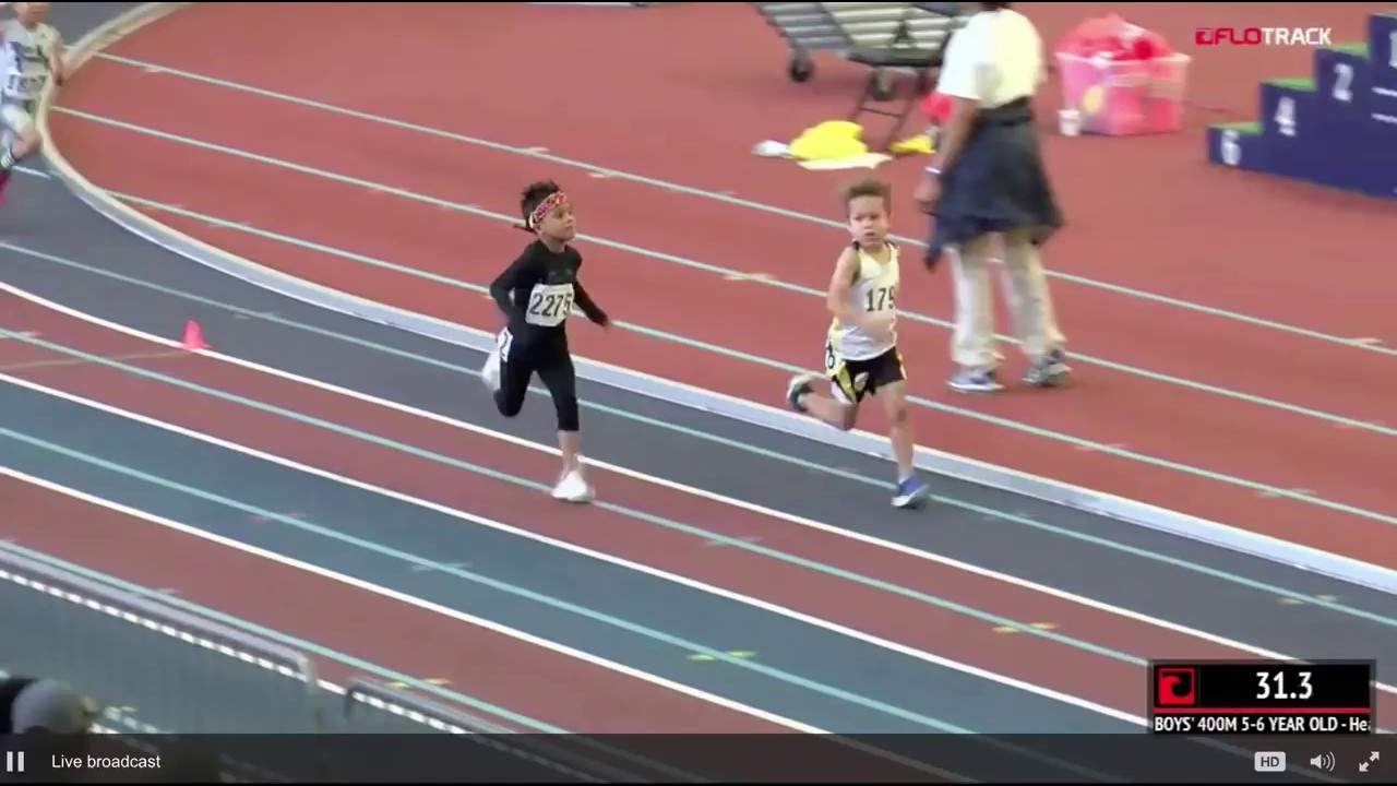 The Greatest 5-Year-Old 400m Race Of All Time