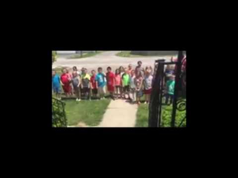 Sherman School secretary's surprise visitors