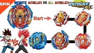【Infinite Achilles VS ALL Achilles】 Beyblade Burst Sparking …