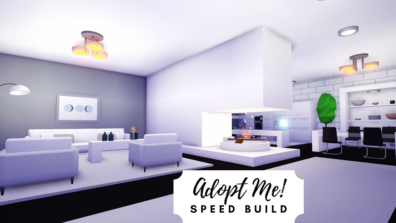 Modern Futuristic Home Speed Build Part 1 Roblox Adopt Me Youtube Futuristic Home My Home Design Home Roblox