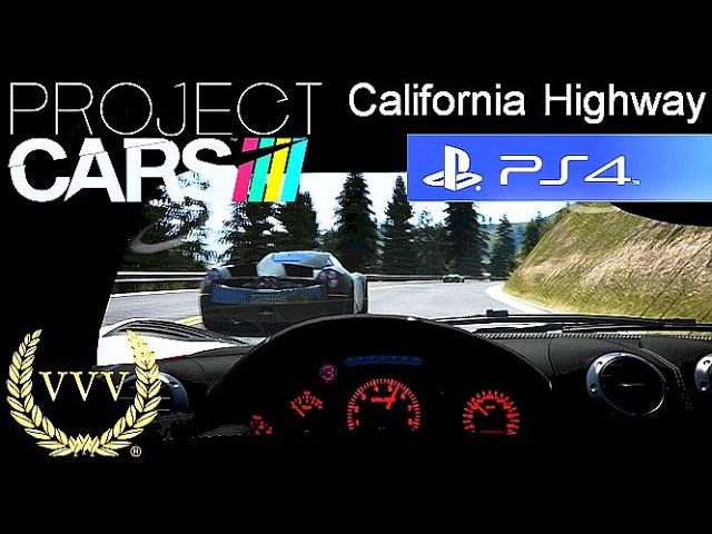 Project Cars - California Highway Day to Night PS4 Gameplay
