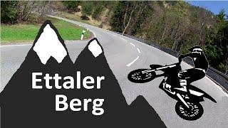 mit der BMW am ettaler Sattel, Oberbayern