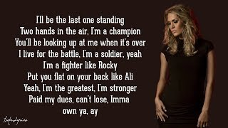 The Champion - Carrie Underwood ft. Ludacris (Lyrics) 🎵