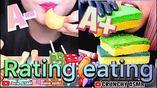 Rating eating most popular edible food for ASMR
