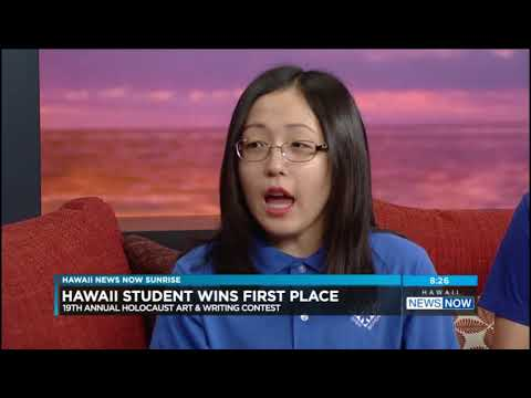 Kaimuki Christian School student Emily Kuwaye on HNN Sunrise (Tue 7-17-18)