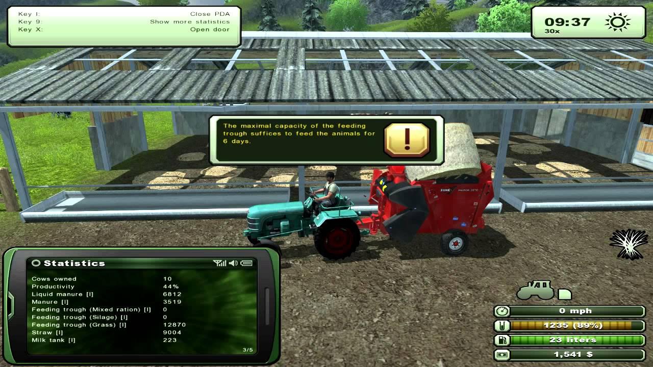 Farming Simulator Cows Feed Manure YouTube - Farming simulator 2015 us map feed cows