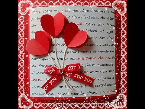 Tutorial biglietto San Valentino St Valentines card tutorial – Saint Valentine Card