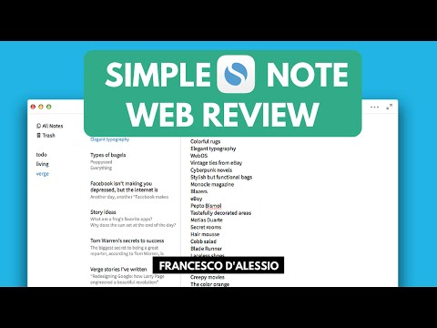 Simplenote: Note-taking Web/Mobile App   Review