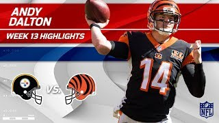 Andy Dalton's Gritty Performance w/ 2 TDs vs. Pittsburgh! | Steelers vs. Bengals | Wk 13 Player HLs