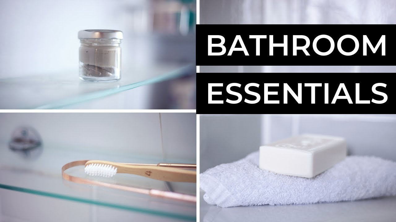 Bathroom Essentials My Low Waste Toiletries Bathroom Essentials