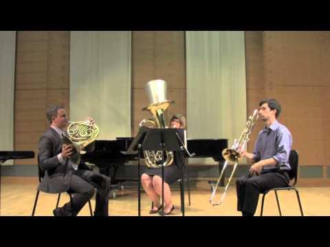 International Low Brass Trio plays Triangles for Horn, Trombone, Tuba by John Stevens