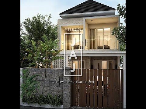 Visualisasi Desain Rumah 2 Lantai 170m2 style Bali Modern Bp Amri Jakarta