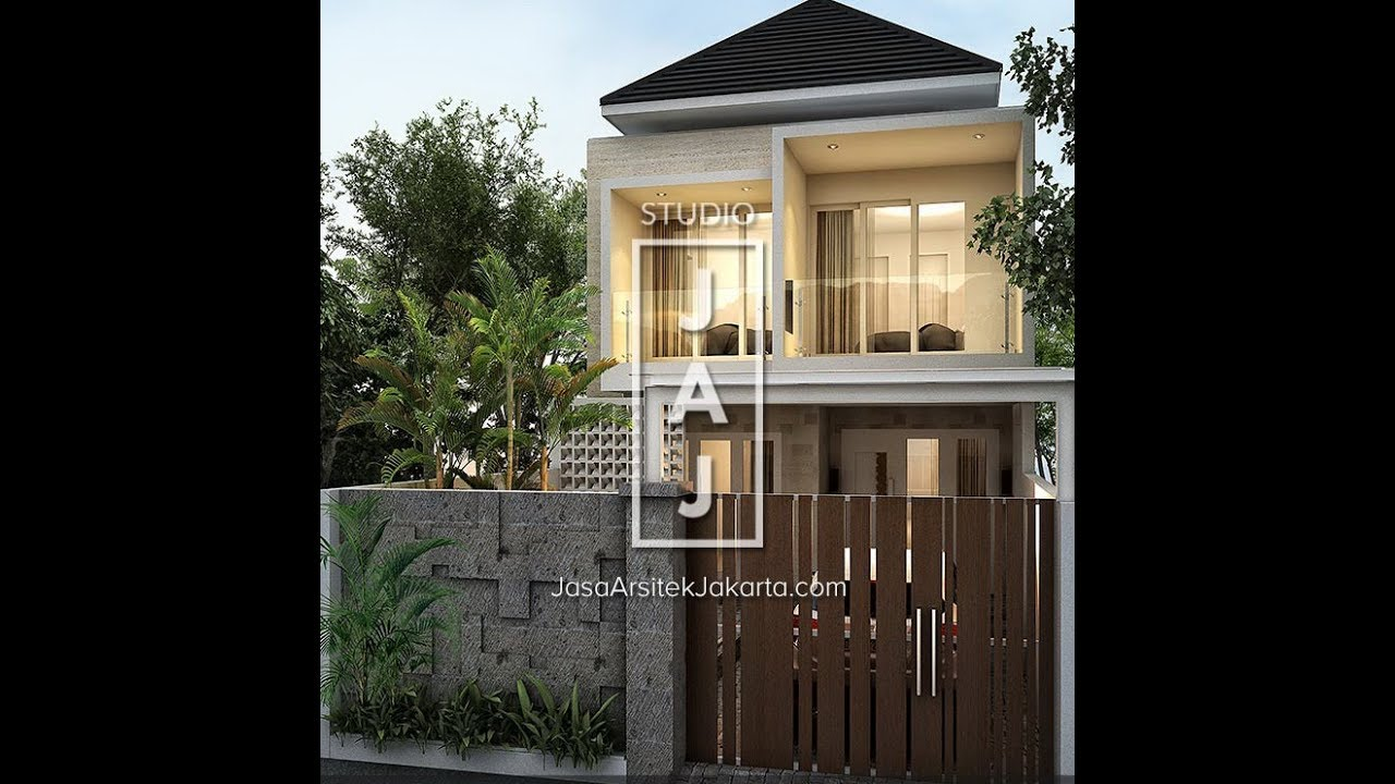 Visualisasi Desain Rumah 2 Lantai 170m2 Style Bali Modern Bp Amri