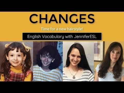 JenniferESL Got a New Haircut! ?? English Vocabulary About Changes!