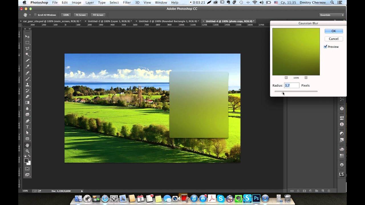 Как в фотошопе сделать эффект стекла