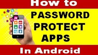 vuclip how to password protect apps & games on android phone (in hindi)