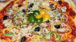 pizza au poulet  - recette facile