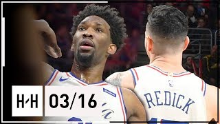 Joel Embiid & JJ Redick Full Highlights 76ers vs Nets (2018.03.16) - 47 Pts Combined