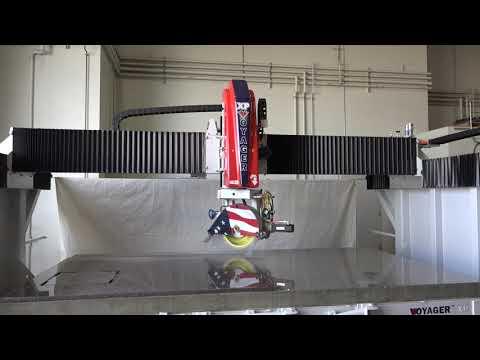 VOYAGER XP | Cutting 280 IPM on 3cm Dakota Mahogany Granite