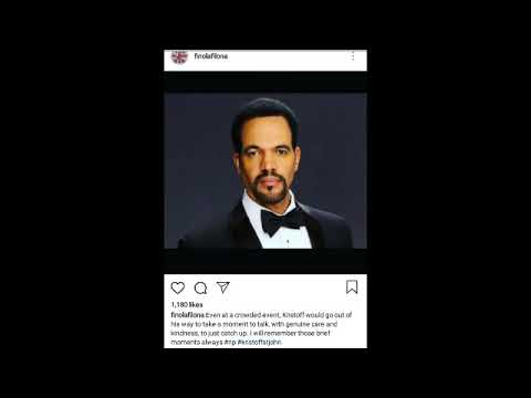 Kristoff St John Final Episode Date/Tribute/Sheryl Underwood/PSA