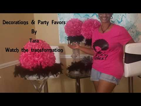 Pink And Black Event: DIY Decor On A Budget