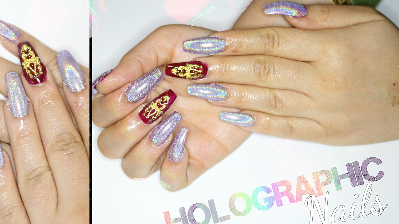 DIY HOLOGRAPHIC NAILS AT HOME (Cheap & Easy) - YouTube