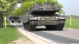 PzBtl 33 Panzer-Konvoi zwischen Mandelsloh und Helstorf am 4. Mai 2013
