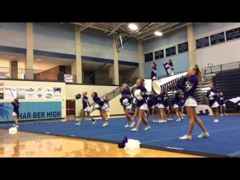 Fayetteville High School Cheerleaders at Har-Ber Invitational