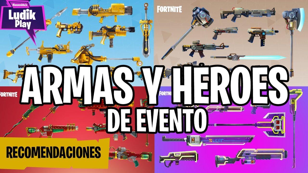 RECOMENDACIONES ARMAS Y HÉROES DE EVENTO (LLAMA ANIVERSARIO) | FORTNITE SALVAR EL MUNDO