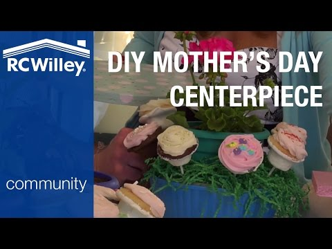 How To Make A Mother's Day Cupcake Centerpiece