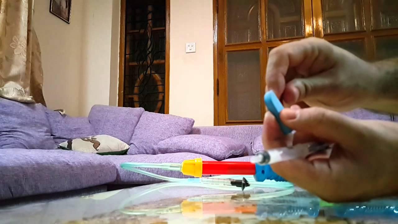 Homemade syringe tranquilizer darts