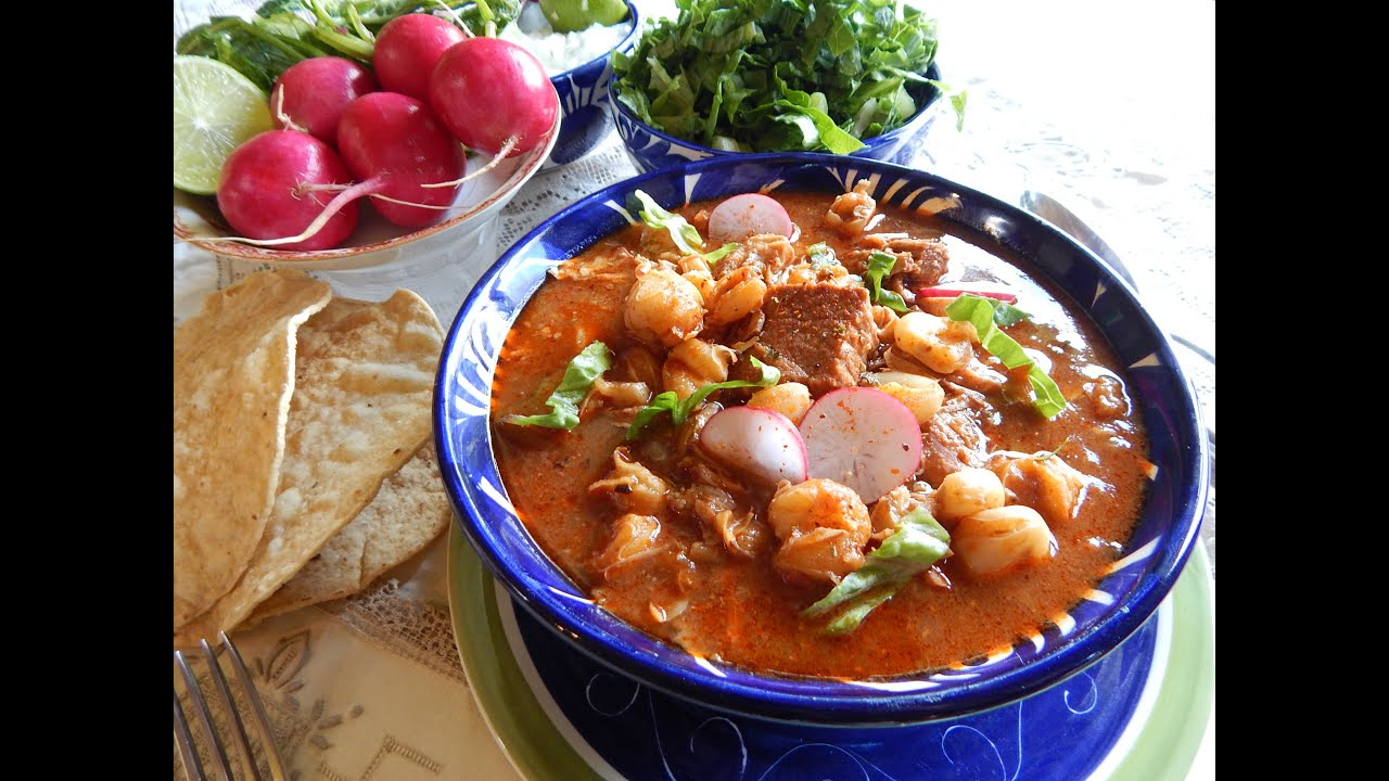 Red Pozole. Pozole Rojo with Pork - YouTube