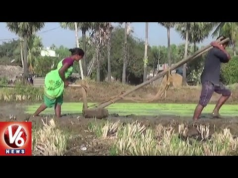Khammam Farmers Face Problems Due To Lack Of Adequate Irrigation Water | V6 News