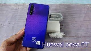 Huawei nova 5T Midsummer Purple unboxing   test camera, fingerprint and face ID