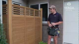 Verda Outdoor Fence Panel Installation