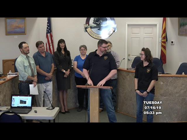 Cottonwood City Council Introduction of New Employees July 16 2019