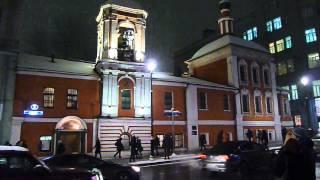 Колокольный звон, Никольская церковь, Москва(Никольская церковь в Москве, 10 декабря 2014 года 17.40., 2014-12-11T11:47:25.000Z)