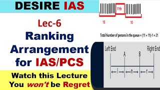 Lect-2 Ranking ( CSAT for UPSC or other Exam)( Eng & Hindi med)